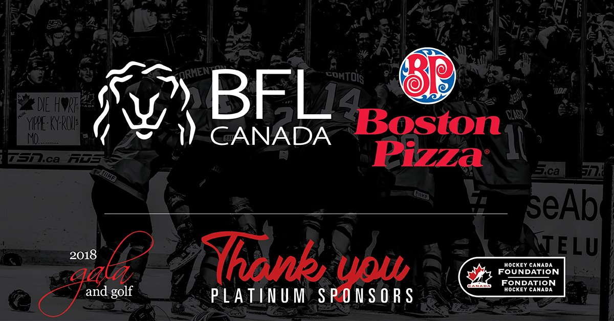 test Twitter Media - Without you, the Hockey Canada Foundation's Gala & Golf would not be possible — and what a shame that would be! #Hockey4Life  Our sincerest thanks @BFLCANADA and @bostonpizza. https://t.co/XXRrEzfl2P