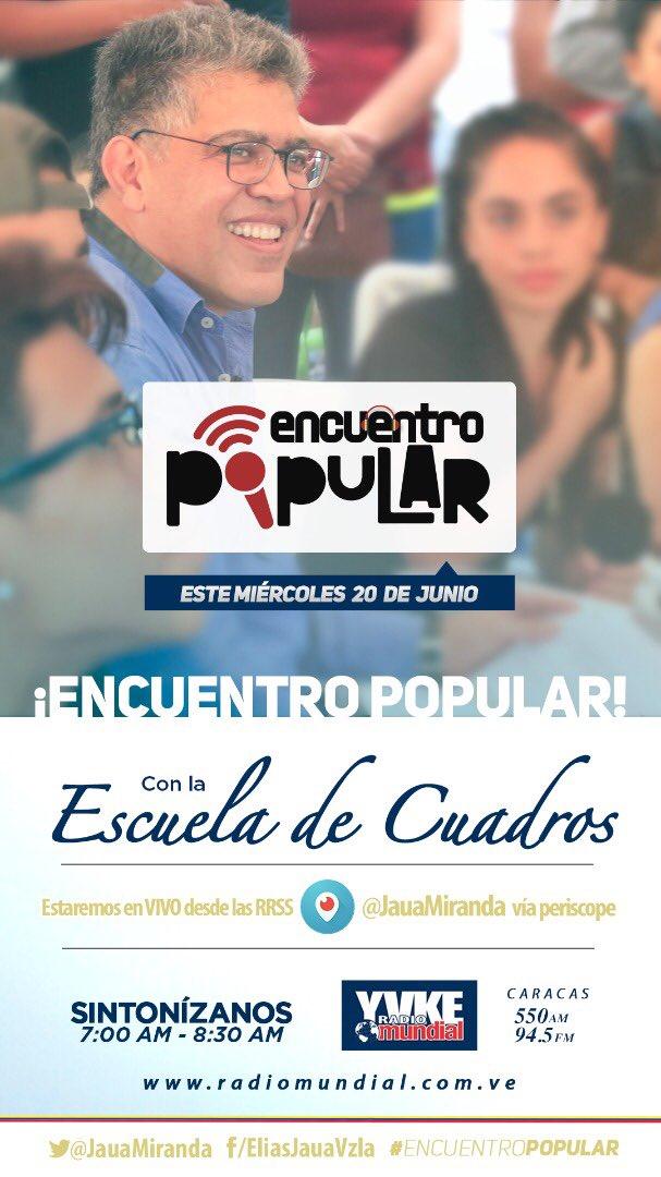 RT @JauaMiranda: #EncuentroPopular https://t.co/aZA91hjddS