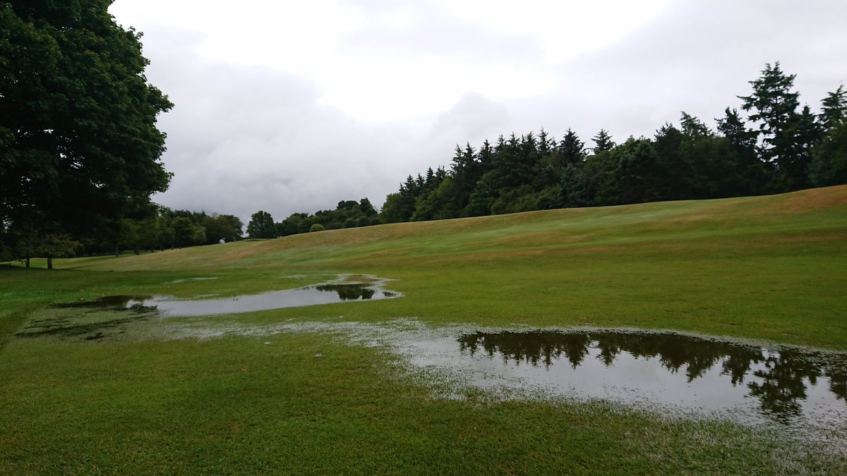 test Twitter Media - After a delay to todays medal, due to 35mm of rain being dumped on the course overnight, we are back in play. Some standing water on fairways and some bunkers G. U. R. but the greens have held out very well. https://t.co/Ppk8JsojZA
