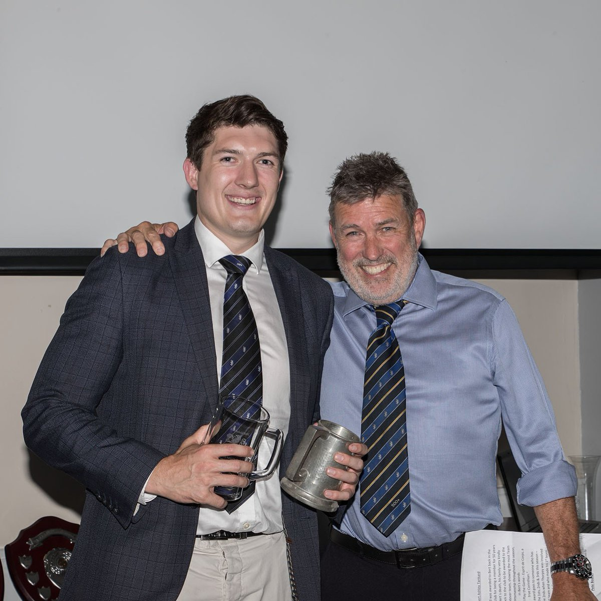 test Twitter Media - Pete Board Scooping up the Bert Ashley tankard for services to the club at the awards dinner! #clubman #maccrugby #Macclesfield #cheshirerugby @peteharperMRUFC https://t.co/DOLqpnrL25