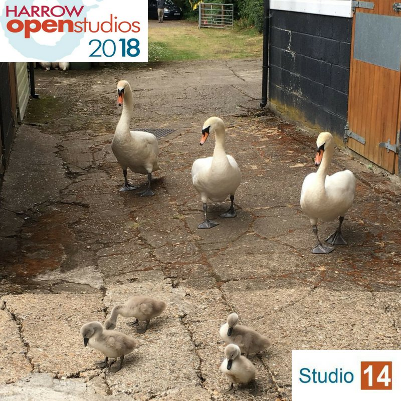 test Twitter Media - Some unusual visitors to painter Mallika Gardiner at Studio 14 in Harrow Weald.  https://t.co/2Uh3n46WAl https://t.co/f1lzK24LXj