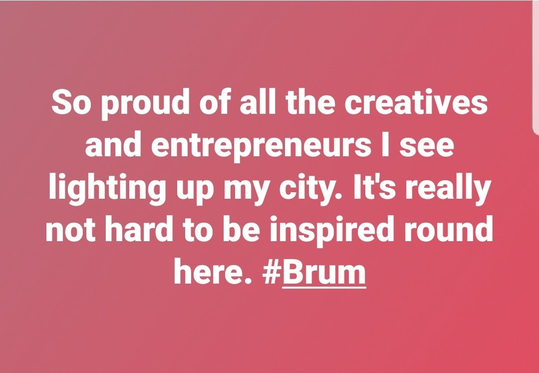 RT @adayarrr: #brum #talent #inspiration #mycity #WMGeneration https://t.co/TFLVmUYOGU