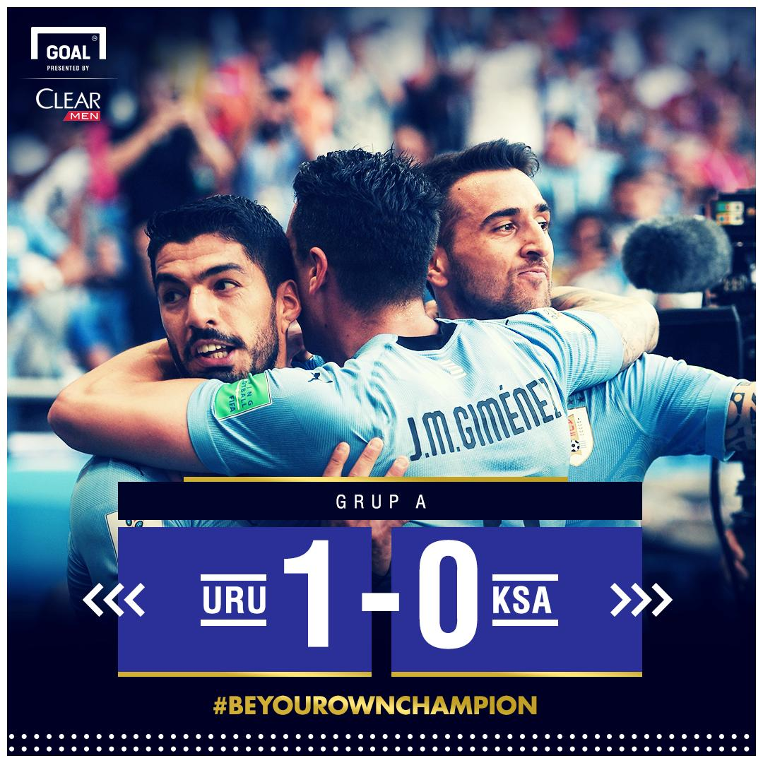 FT:  Uruguay 1-0 Arab Saudi- https://t.co/CoaOvDdEpn   #BeYourOwnChampion #MomenJuara #MatchdayGoal @CLEARIndonesia https://t.co/qXWpxj8MDK