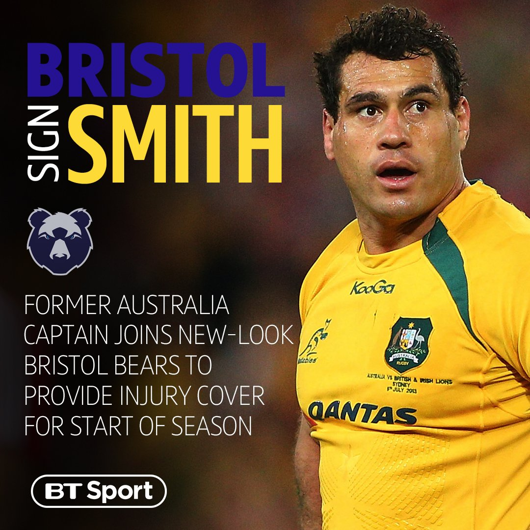 test Twitter Media - 🇦🇺 111 caps for Australia 👌 Premiership experience The Bristol Bears have added a massive name to their squad with the signing of former Wallabies captain George Smith 👏 https://t.co/KwkmpkS1eT