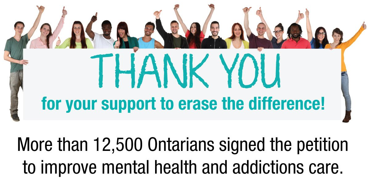 test Twitter Media - •More than 12,500 Ontarians made it clear: it's time to #erasethedifference. We look forward to sitting down with MPPs to discuss ways to enhance the #mentalhealth & #addictions system. https://t.co/a6ex9wPlLz https://t.co/FjSXsieNyn