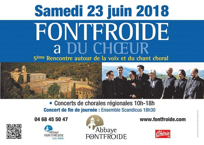 11 chorales investissent Fontfroide ! Ce samedi 23 Juin les choeurs de la région...