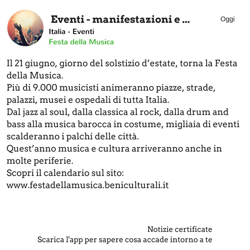 #festadellamusica