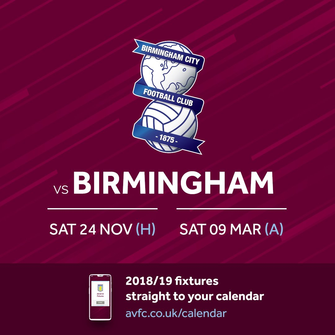 RT @AVFCOfficial: Oh and there's these two games as well 👀  #PartOfThePride #AVFC https://t.co/bVPa1xx8Dn