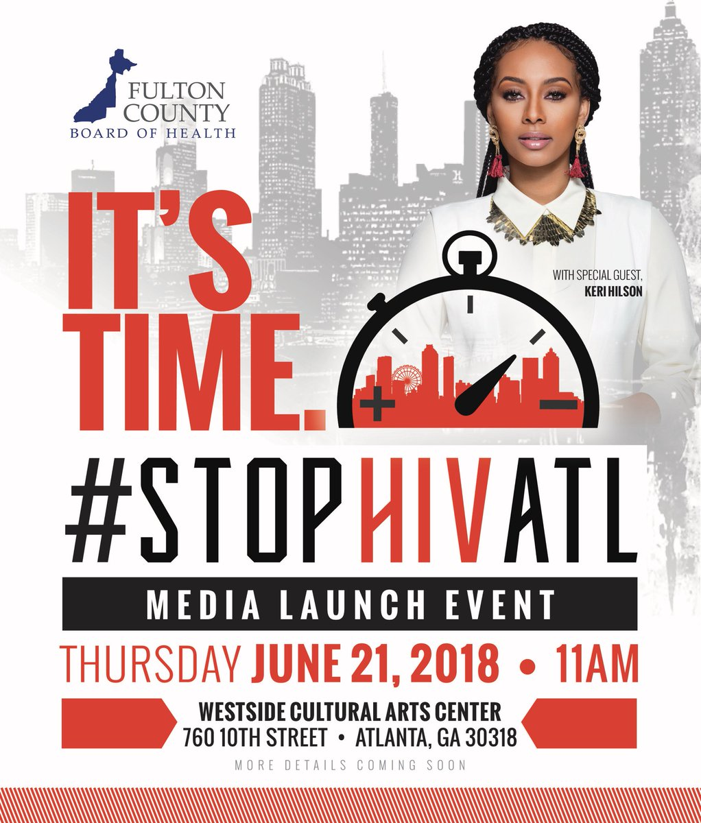 And then...if you're in ATL, come #STOPHIVATL with me today!!! https://t.co/t2hY1XTk6l