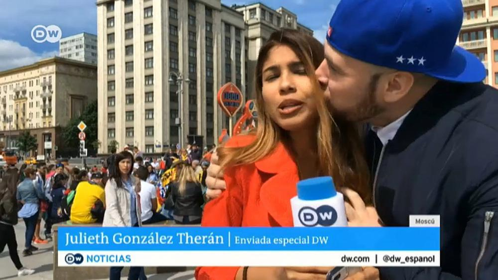 World Cup reporter groped and kissed on air https://t.co/zoW574xLaw https://t.co/yHpC9QlH1P