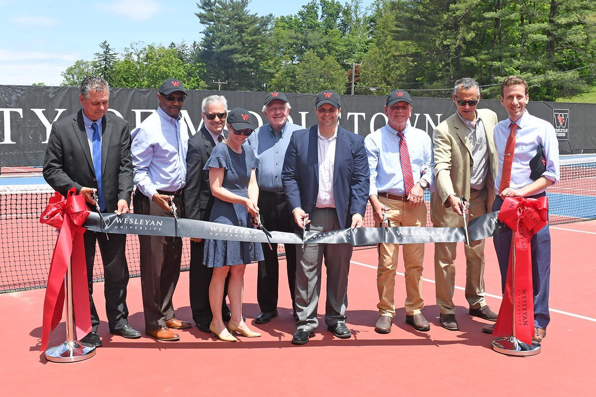 test Twitter Media - Last year, Wesleyan partnered with the City of Middletown to revitalize the Vine Street tennis courts, both for Wesleyan and public use. On June 8, the courts were officially rededicated during a ribbon-cutting ceremony: https://t.co/iTrxCM92vj 🎾 https://t.co/7otuw8BhGI