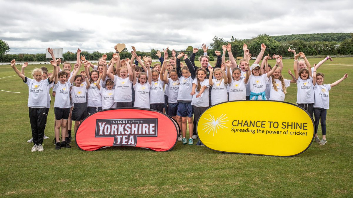 test Twitter Media - .@englandcricket @ICC World Cup winners @fwilson07, @B_Langers92 & @WesternStormKSL star @rachelpriest13 visited @FrenchayCC as part of @Chance2Shine @YorkshireTea #NationalCricketWeek https://t.co/qjgQV4nLyK https://t.co/K5tPQo9ahz