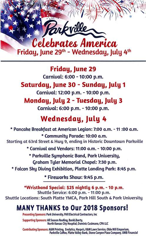 test Twitter Media - The annual July 4th Celebration in downtown @parkvillemo will be from Friday, June 29th to Wednesday, July 4th. https://t.co/87lmfw0XEY