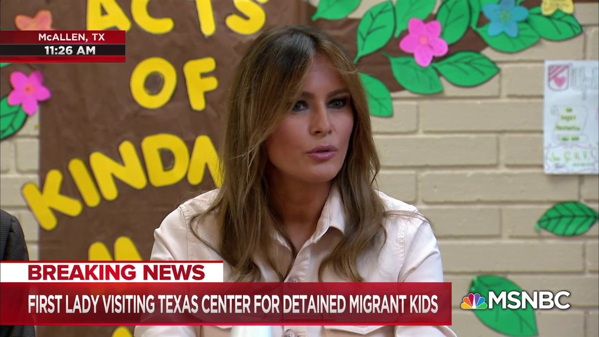 JUST IN: Melania makes surprise visit to child detention center on US-Mexico border https://t.co/wuM8APv51y https://t.co/6WtIuHkBVb