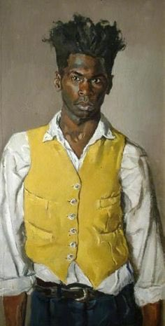 RT @ArtWestWeekend: #NationalSelfieDay2018 Desmond Haughton, self portrait in a yellow waistcoat, 1994 https://t.co/hsdygrdGLb