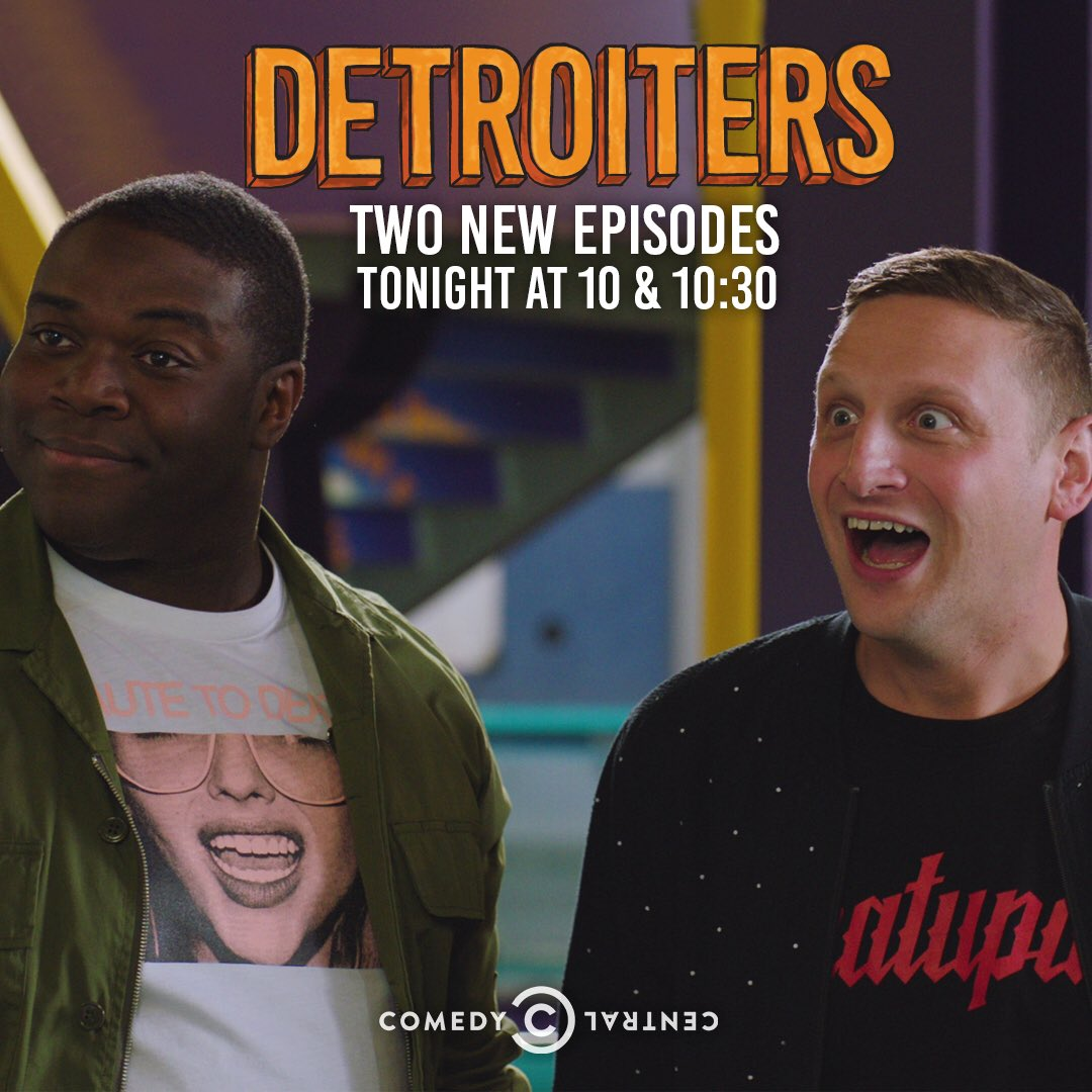 We could all use a laugh. This show is back on tonight! I love these guys so much. Check it out. @Detroiters https://t.co/skUJwdVBLN
