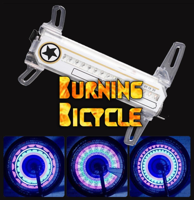 #letsdance Bicycle Hot Wheel Light 30 Patterns DIY Pattern...