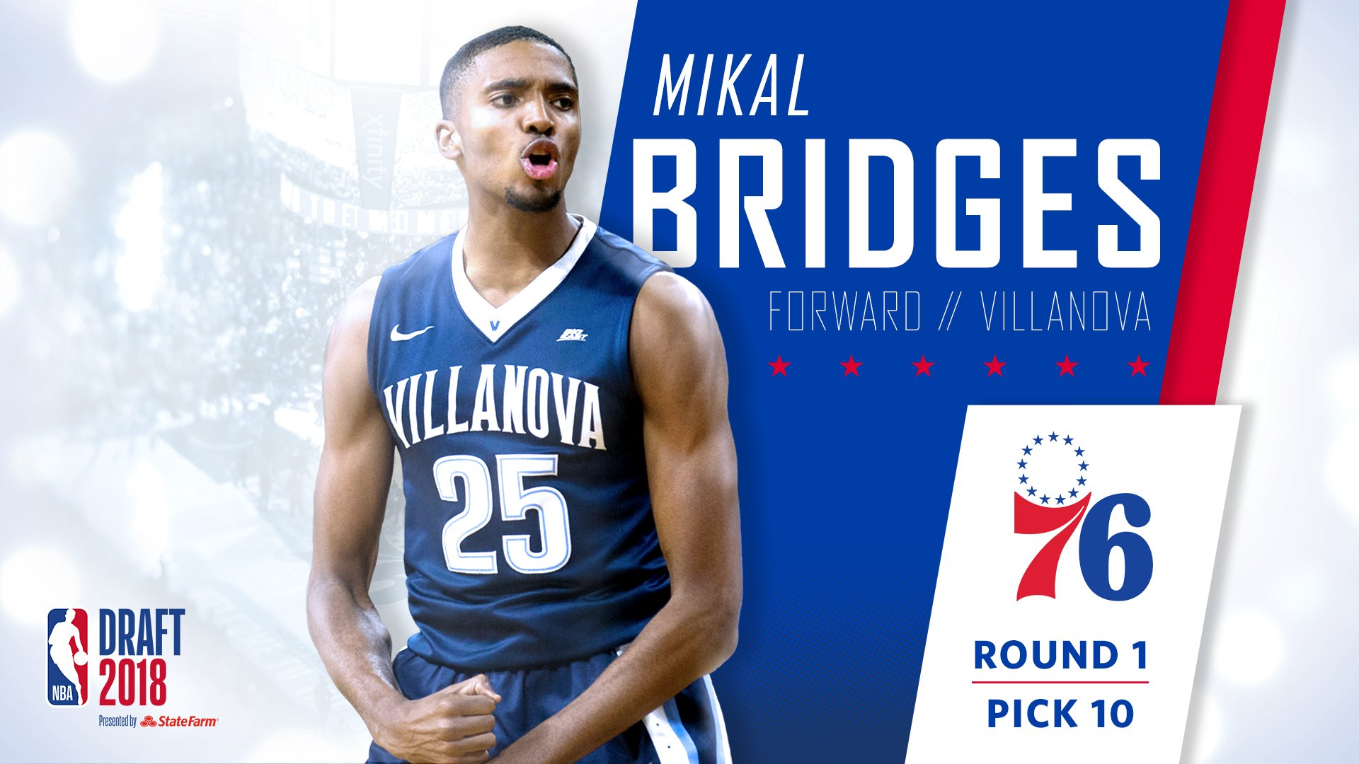 Welcome home, @mikal_bridges!  #HereTheyCome x #NBADraft https://t.co/cyiePDtcLs