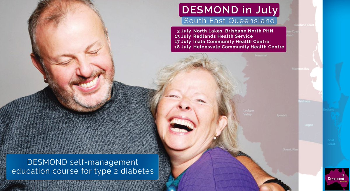 test Twitter Media - July Schedule for DESMOND, DQ's free education course for people with #type2 #diabetes. • 3 July, North Lakes, Brisbane North PHN • 13 July, Redlands Health Service • 17 July, Inala Community Health Centre • 18 July, Helensvale Community Health Centre https://t.co/udwkPhksVm https://t.co/7uPxtWXh6F
