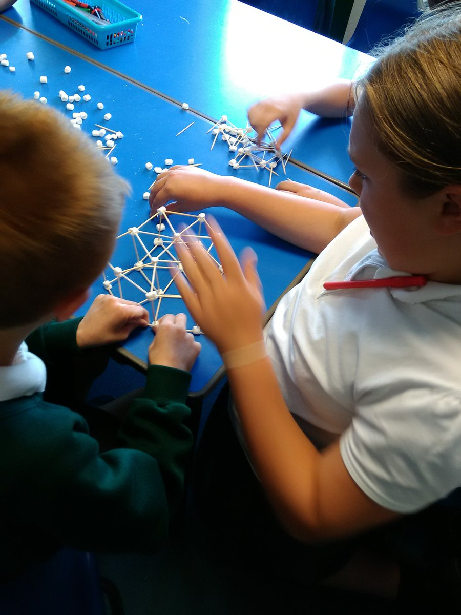 test Twitter Media - Yesterday Y5 made structures with marshmallows and cocktail sticks, one was strong enough to hold a book! #katepstt https://t.co/1cfGWefpRP