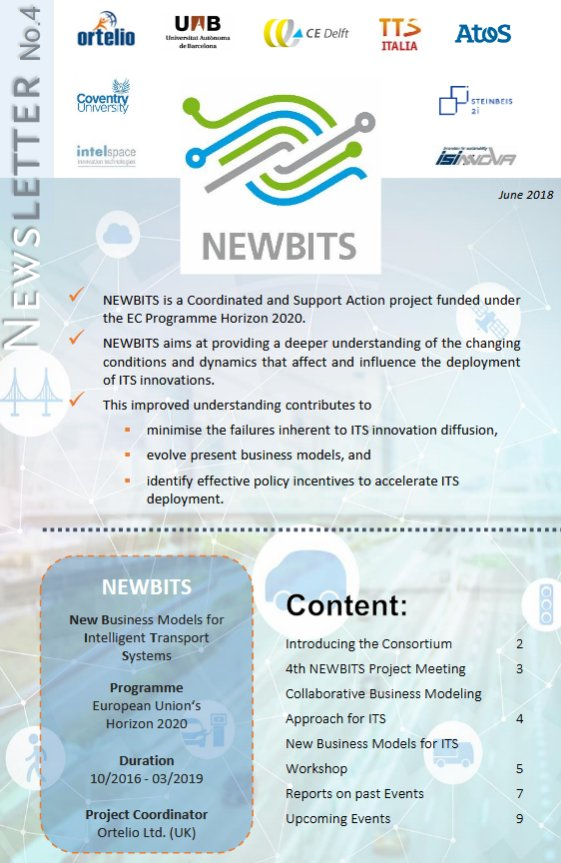 test Twitter Media - Our 4th @NEWBITS_CITS #newsletter is available now! Discover it: https://t.co/TuGvn0QsNm | #ITS #BusinessModel #CAV #Transport https://t.co/d2JZ6mk9I4
