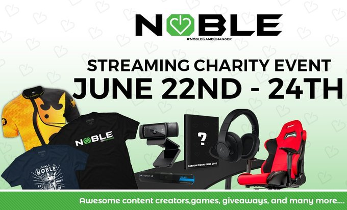 RT @IVIAZE: Support a great cause and win some prizes! Check it out https://t.co/BsYpHV5EAU  #NobleGameChanger https://t.co/ZSimGyS99L