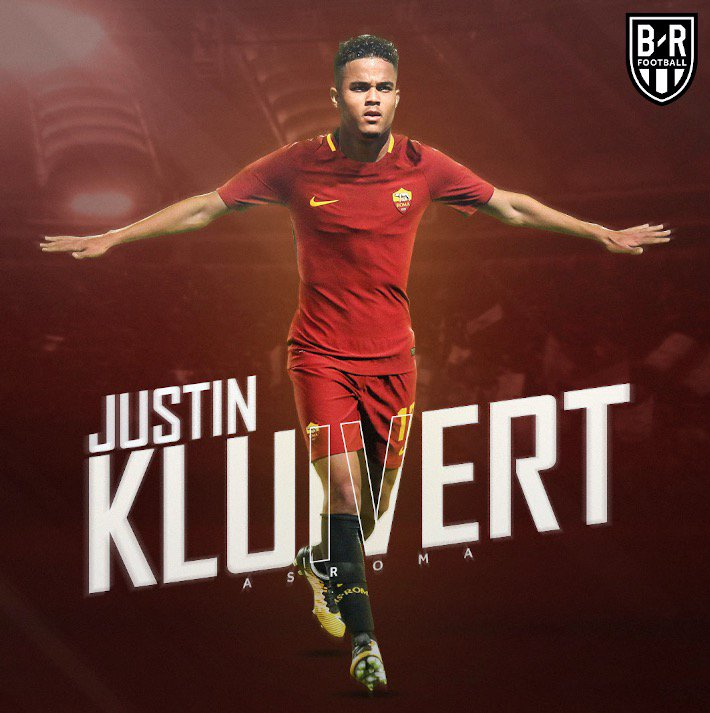Justin Kluivert is officially  roma