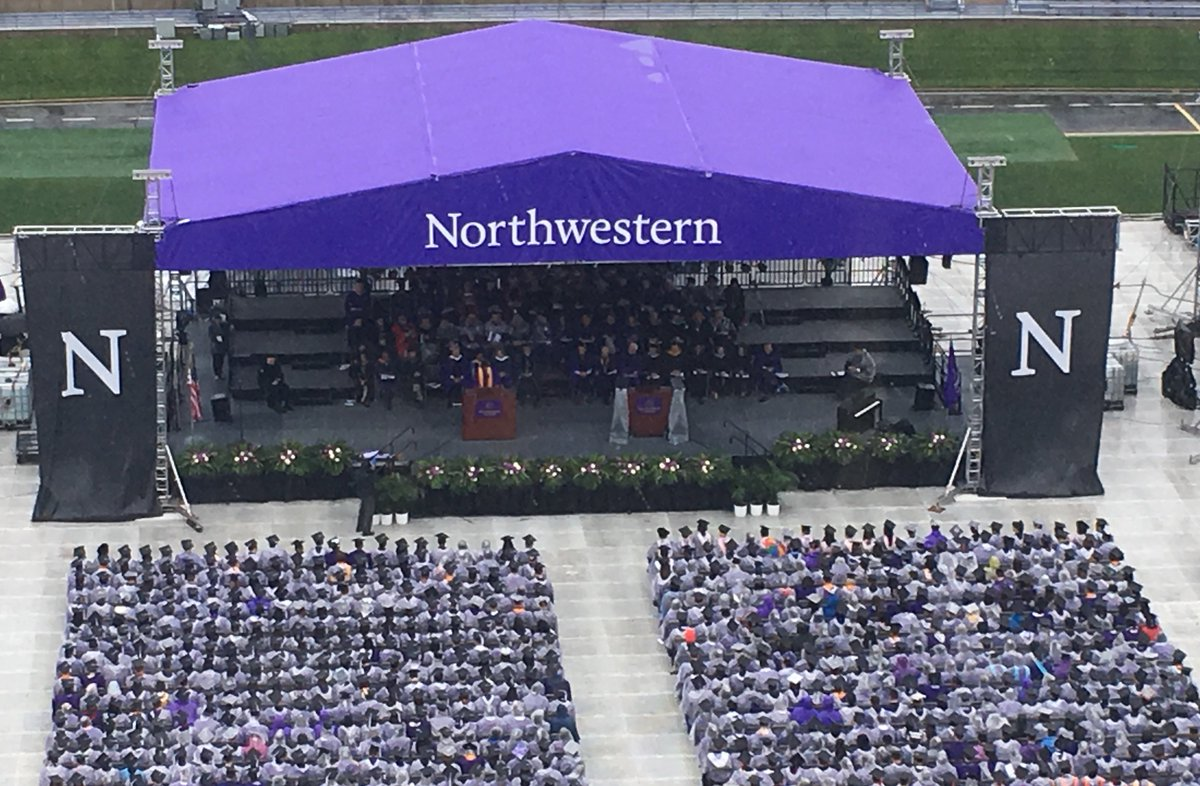 The purple pride is peeking through this #NU2018 poncho posse. Congratulations to all of our graduates! https://t.co/cHjnZVUIFi
