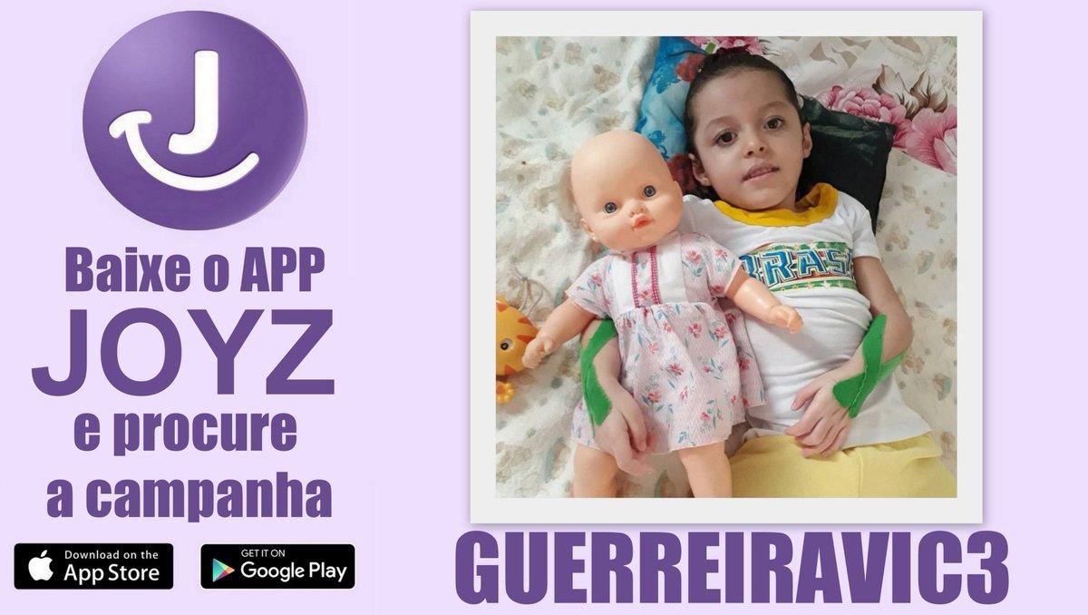 Baixem o @Joyz_APP procure a campanha GUERREIRAVIC3 e ajude a princesa Victória! ???????????? #JoyzAPP https://t.co/7Y7Q5rdSpo