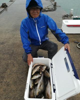 和歌山県中部 仲政丸 中村様の釣果    大型イサギ 狙いで出船  船安定せず苦労しました、 良型なので土産に。 https://t.co/bBh8nZDCtC https://t.co/1RiNCIOEYF