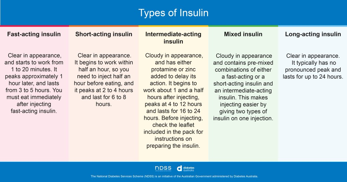 test Twitter Media - Did you know there are five types of insulin for people living with type 1 diabetes? Your doctor or credentialled diabetes educator will work out with you what type of insulin is right for you.   #Type1 #Insulin https://t.co/twXn3JDojT