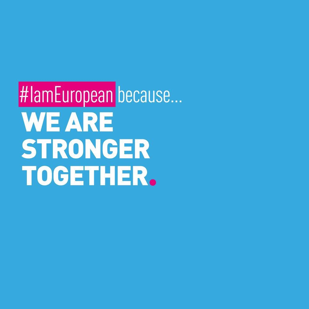 RT @guyverhofstadt: #IamEuropean because we are stronger together 🇪🇺