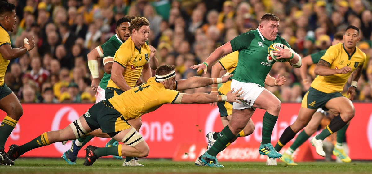 test Twitter Media - Ireland's incredible season continues with a series win over Australia 👏 A CJ Stander try was crucial in a hard fought 20-16 victory. https://t.co/SF0CA7nhsO