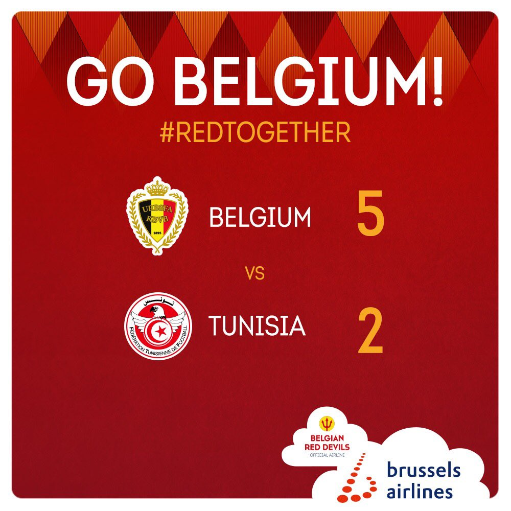 RT @FlyingBrussels: We have defeated Panama, we have beaten Tunisia. England, you're next! #RedTogether #beltun https://t.co/Jd878IRWZZ