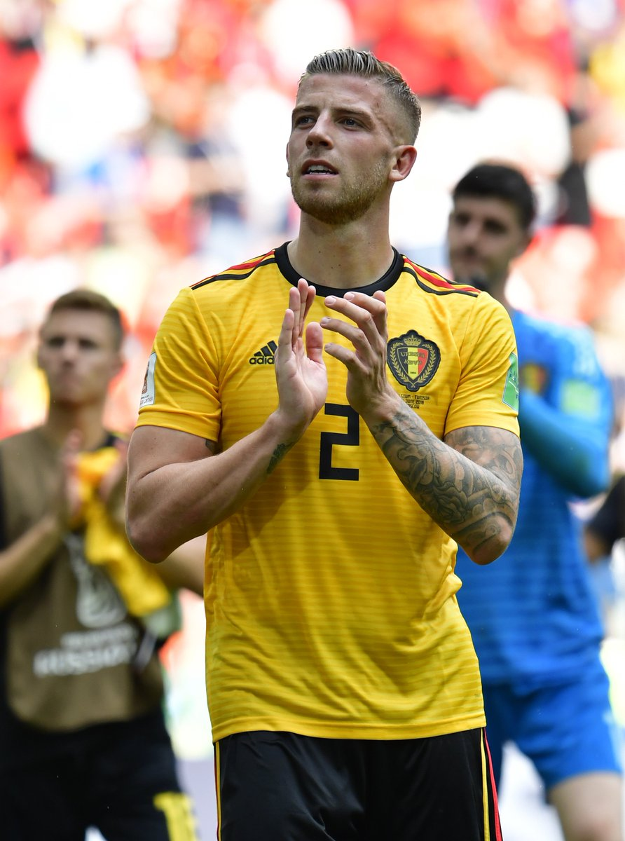 RT @AlderweireldTob: Historical win! Enjoy this Saturday, Belgium 🇧🇪😉 #WorldCup #BELTUN #RedTogether https://t.co/Uxi3dgqvbk