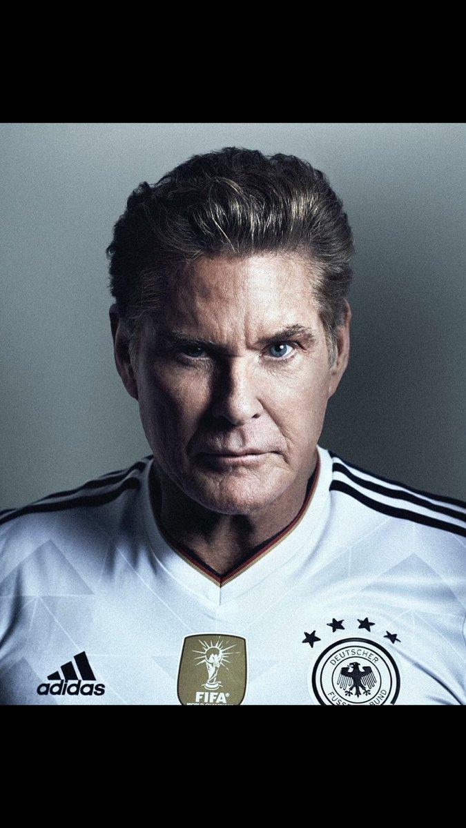 Alles Klar, Germany will win, count on it..... the hoff has spoken ✌???? https://t.co/LdvT9cgIn1