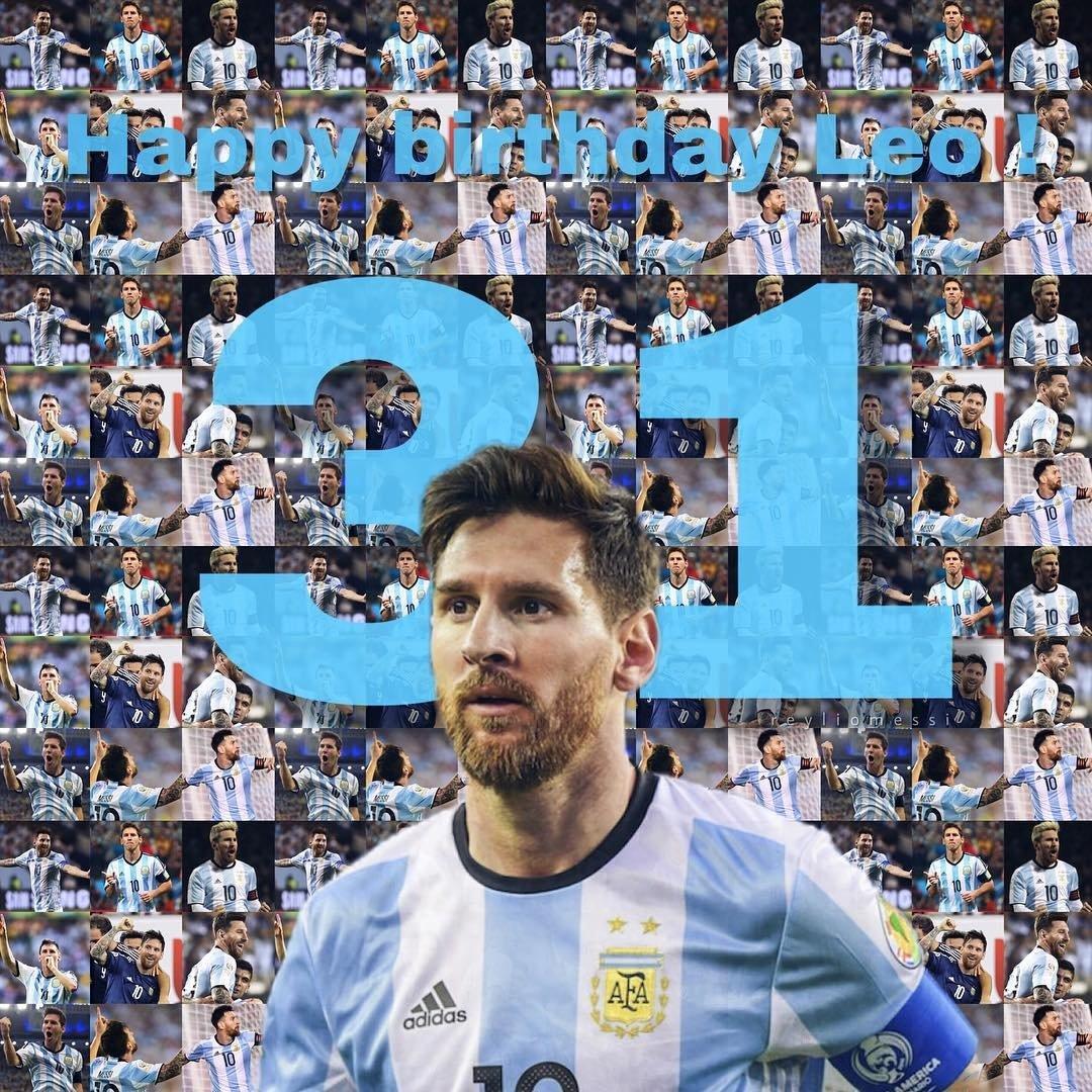 Feliz aniversário ao melhor jogador de futebol no mundo! #Messi31 #GOAT ????????????????⚽???????? https://t.co/fQ2Va69ih0