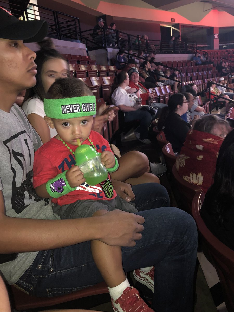@JohnCena he is ready for his first live show #NeverGiveUp https://t.co/h1NKKoeKtI