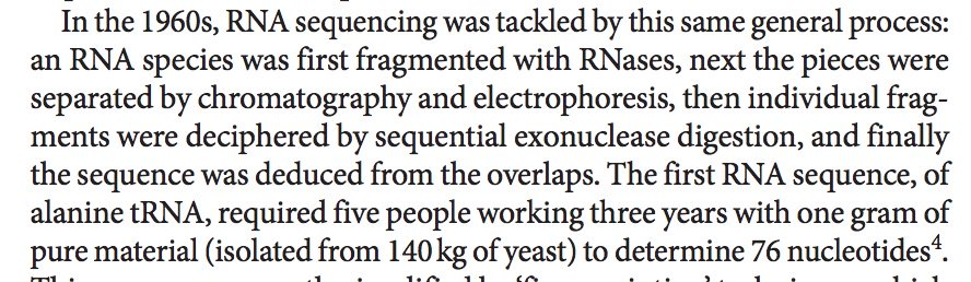 test Twitter Media - The first RNA sequence required 15 person years to sequence 76 nucleotides. https://t.co/qTu0kdhi03