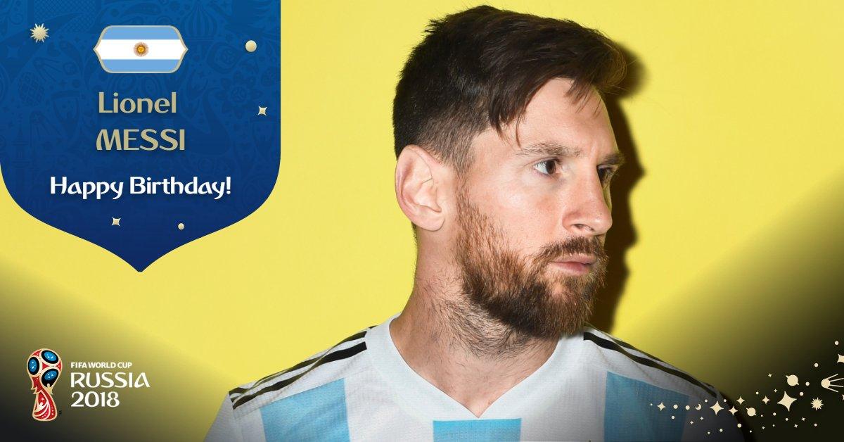 RT @FIFAWorldCup: Happy Birthday, @TeamMessi!   #ARG #WorldCup https://t.co/iPbosyFS1u