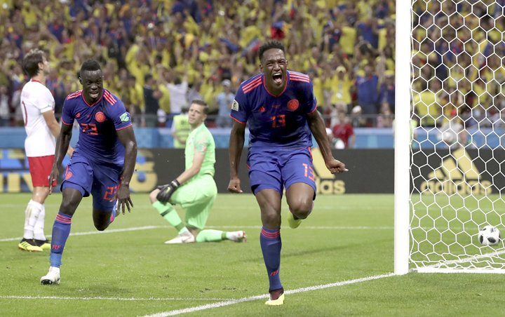 @BroadcastImagem: Colômbia faz 3 a 0 e elimina a Polônia na Copa da Rússia. Thanassis Stavrakis/AP