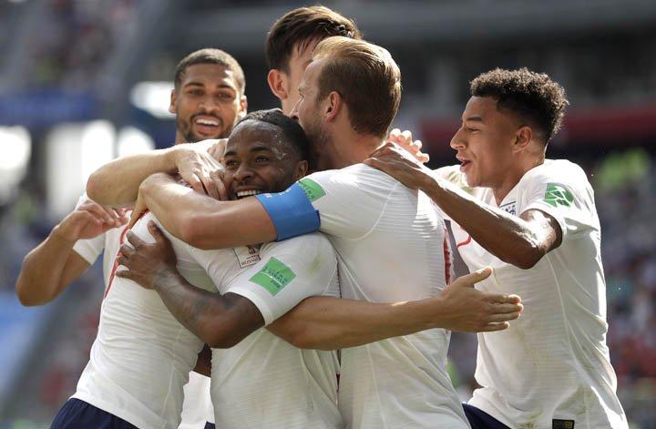 @BroadcastImagem: Inglaterra massacra Panamá por 6 a 1 e garante vaga nas oitavas de final no Grupo G. Matthias Schrader/AP