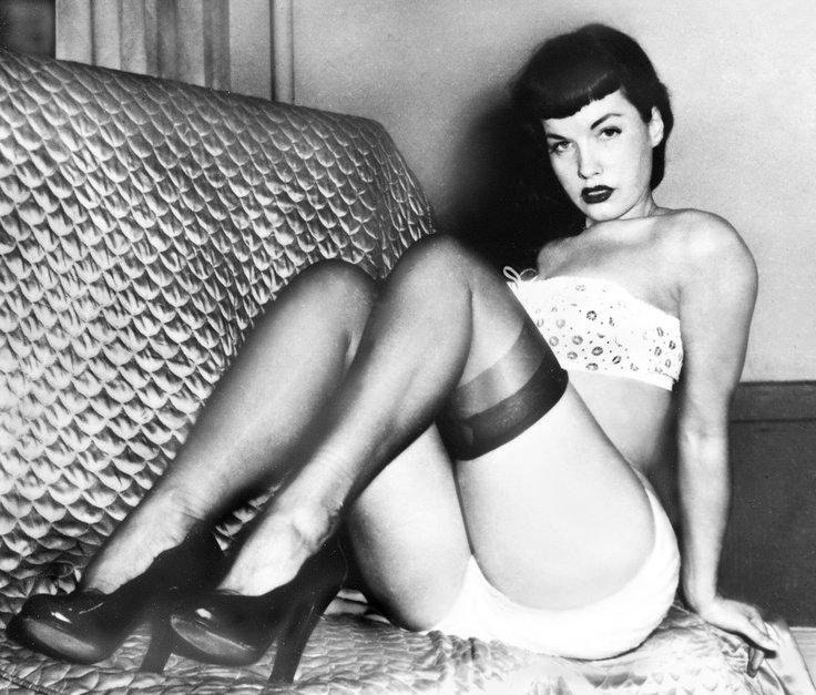 Sultry Sunday 💋🔥 #bettiepage #pinup #heels #lingerie #retro WbbIepB1eV