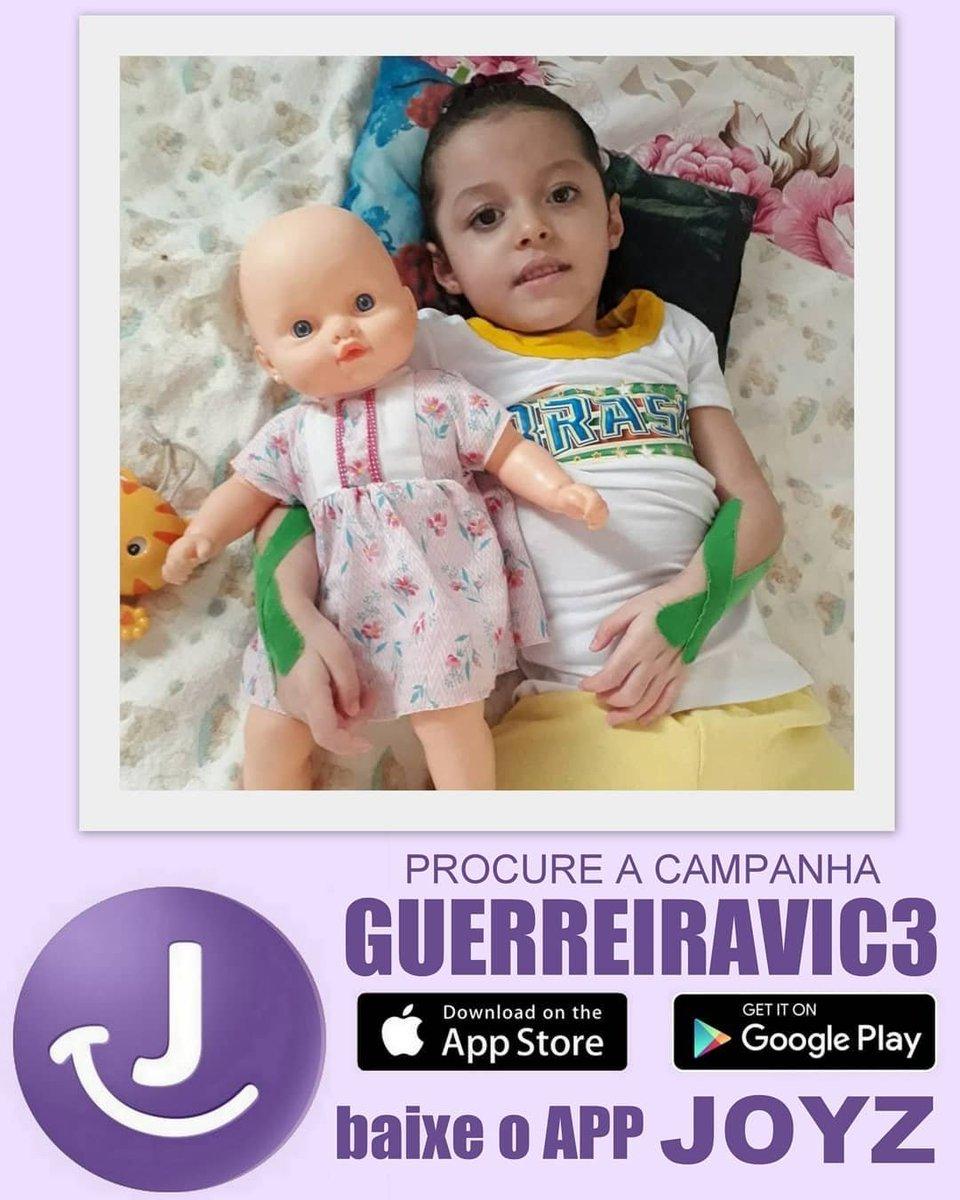 Baixem o @Joyz_APP procure a campanha GUERREIRAVIC3 e ajude a princesa Victória! ???????????? #JoyzAPP https://t.co/lWuHiKrXO7
