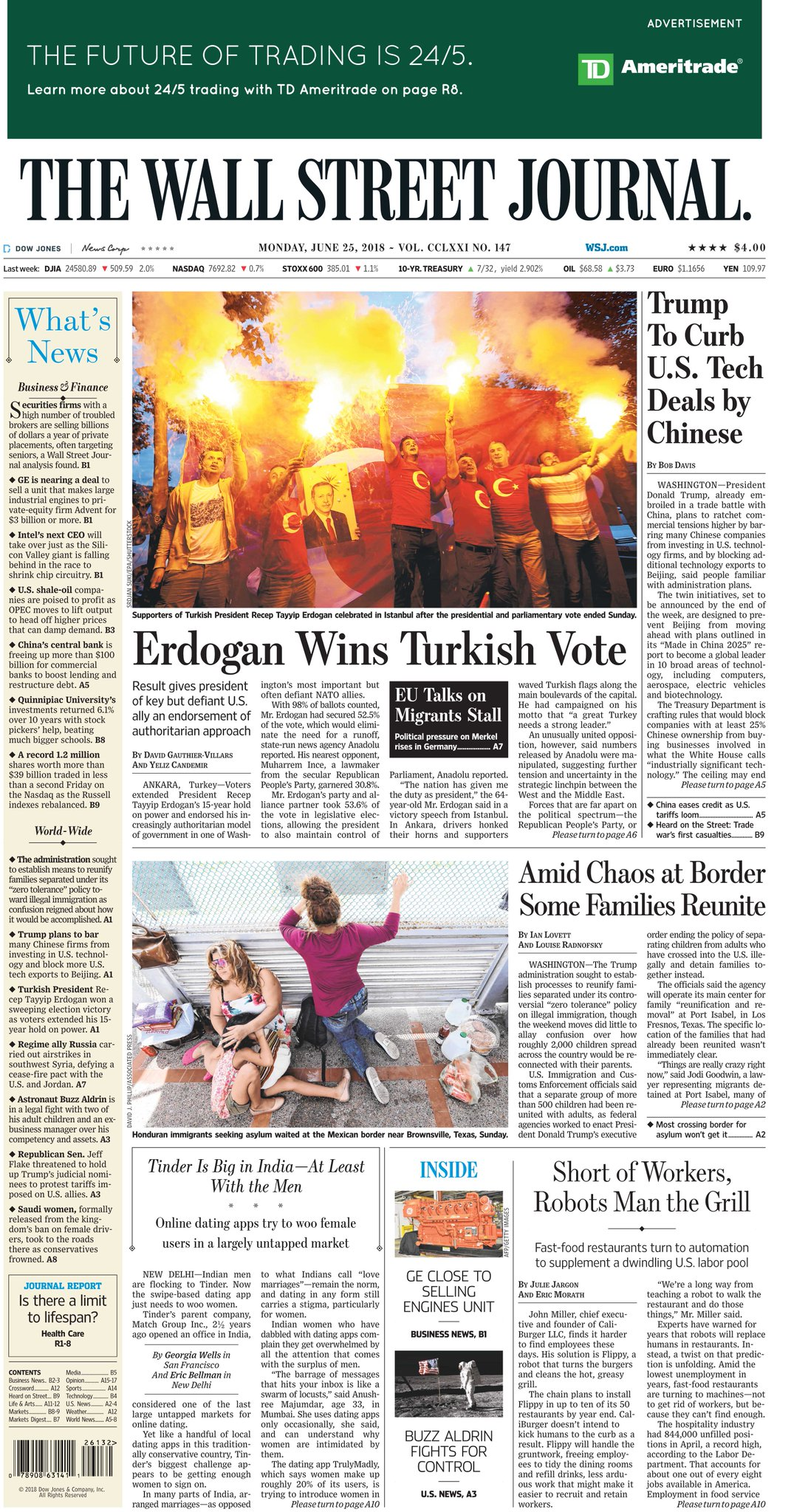 Take an early look at the front page of The Wall Street Journal https://t.co/5xQPDPcm8q https://t.co/nsmR0wcSpP