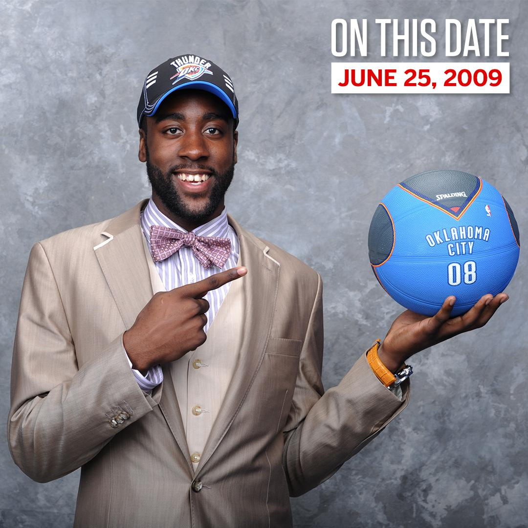 b04cf1cbc73b nine years ago today okc drafted a slightly less bearded james harden with  the no 3