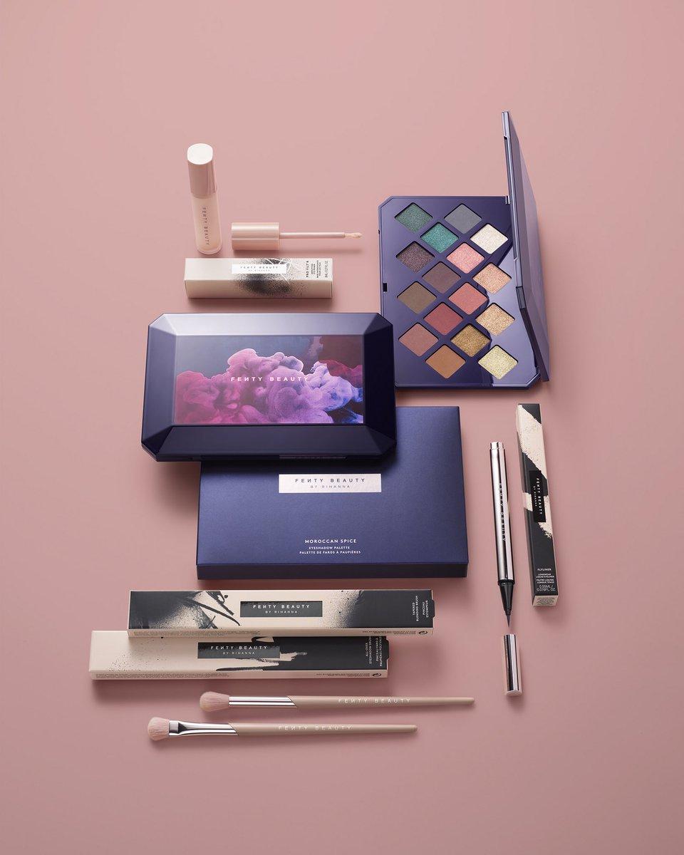 #MOROCCANSPICE palette, #FLYLINER Liquid Eyeliner, #PROFILTREYEPRIMER July 6th. @fentybeauty https://t.co/lRvldUP3Sc