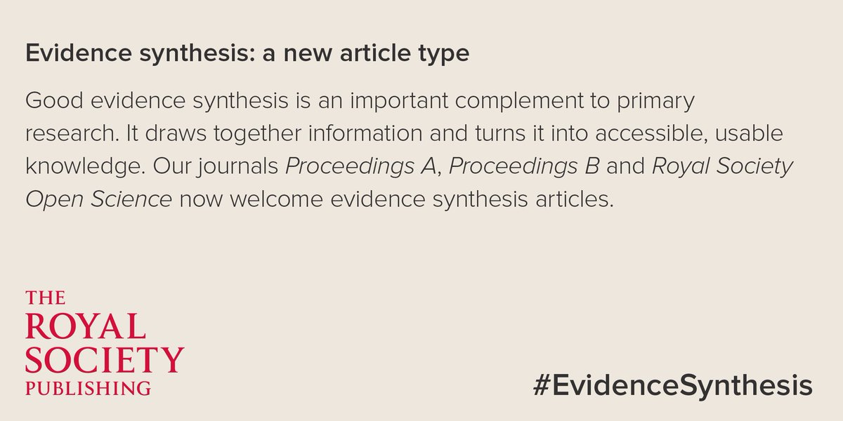 test Twitter Media - Submissions when you're ready please, #EvidenceSynthesis now in #ProcA, #ProcB and #RSOS https://t.co/N5u2IcRJZp