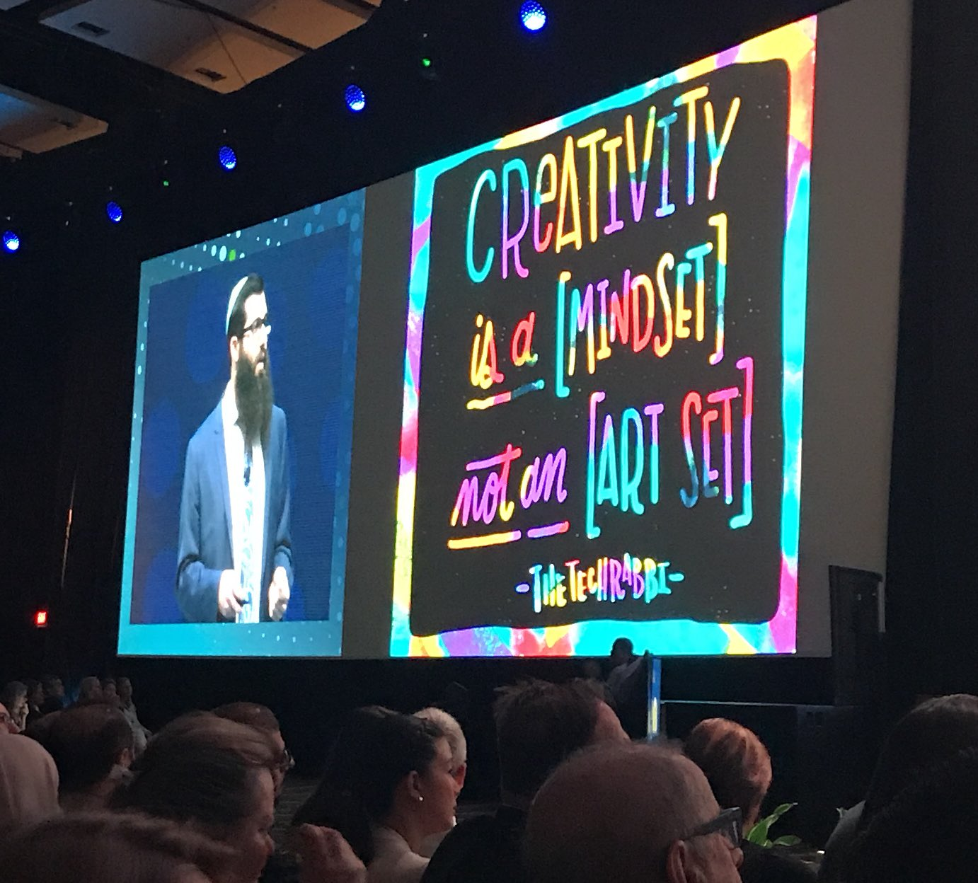 #Creativity is a mindset, not an art set. @TheTechRabbi #ISTE18 https://t.co/LVVB2A1E03