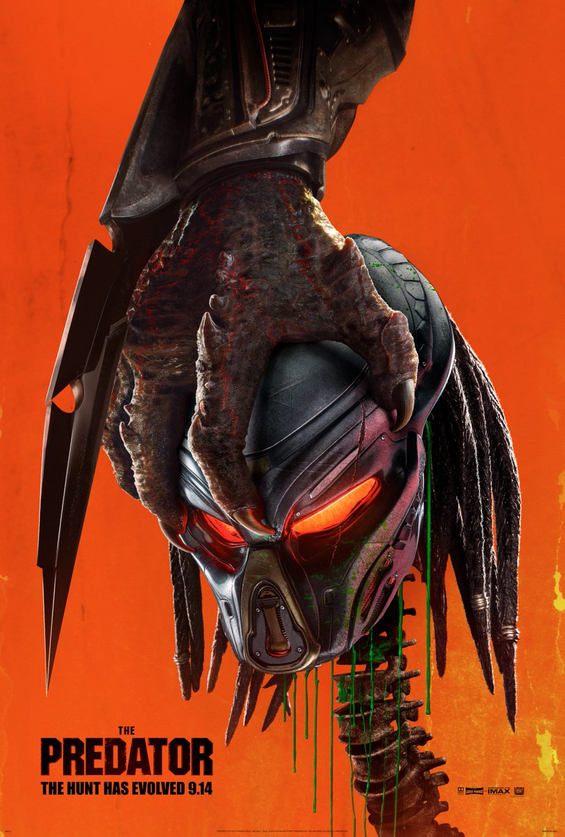 RT @Predator: The hunt has evolved. 9/14. #ThePredator https://t.co/xPURfYF6HC